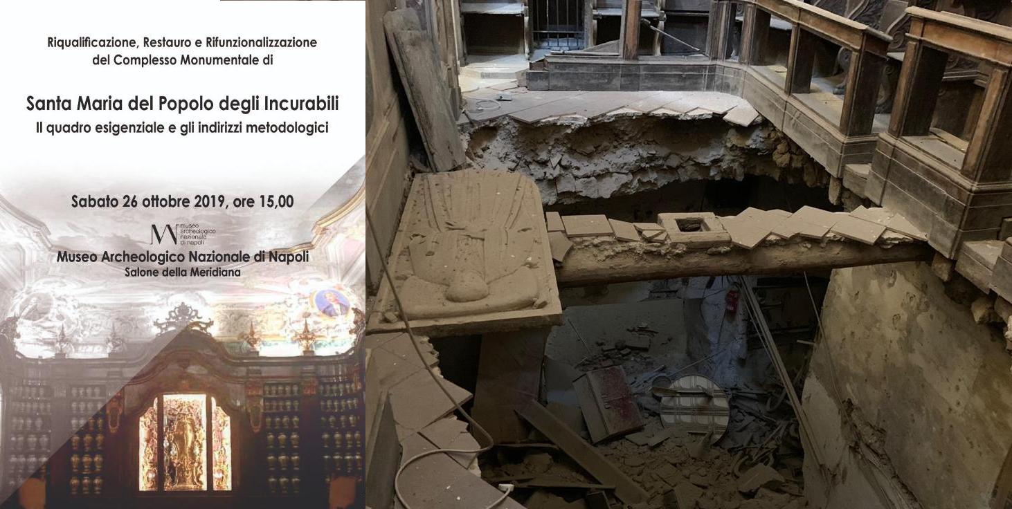 Crollo nella Chiesa degli Incurabili, a Napoli la presentazione degli interventi